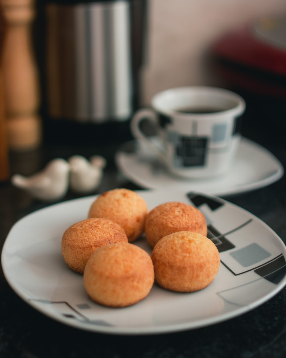 pastry balls on plate