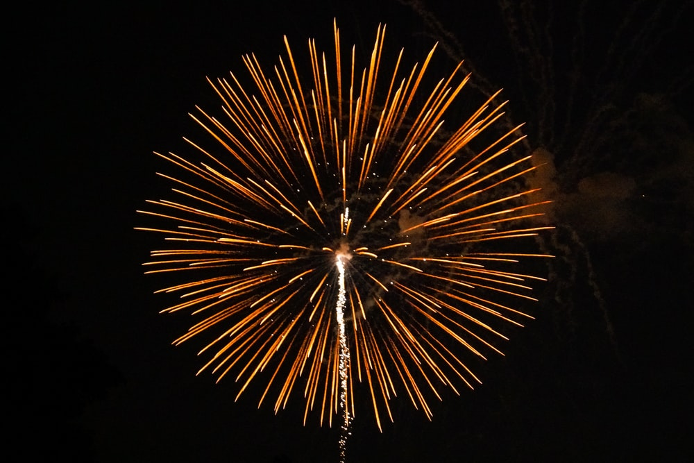 fireworks on focus photography