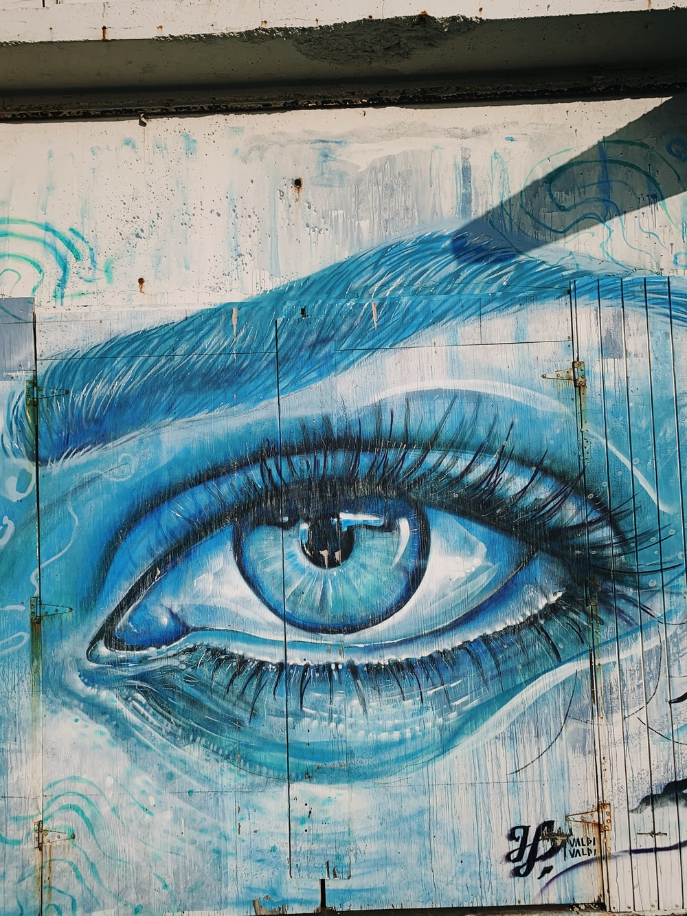 human eye framed painting