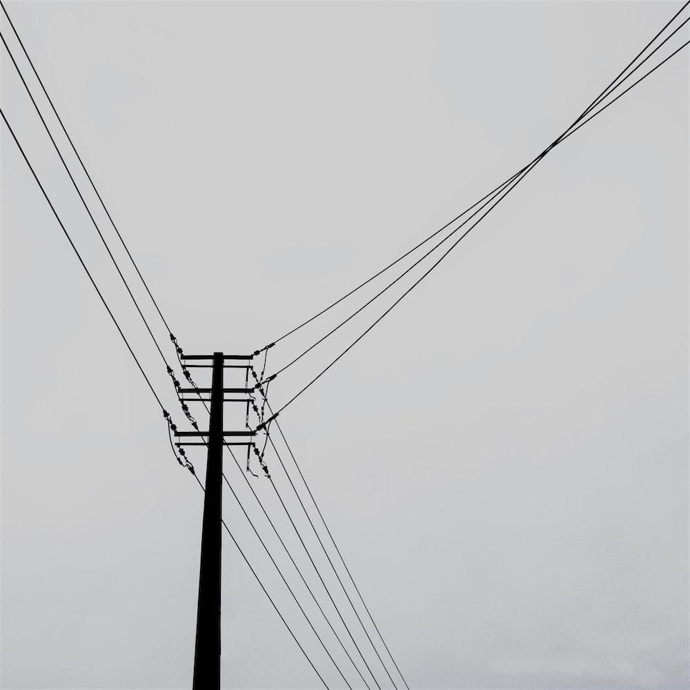 black utility tower