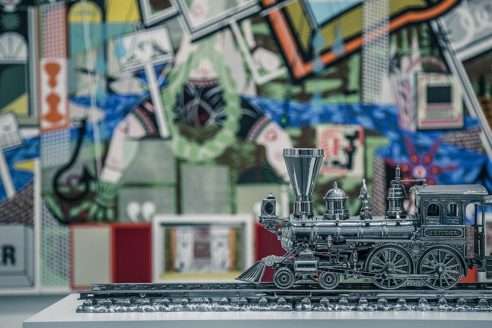 gray train miniature