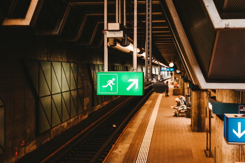 view of train rail