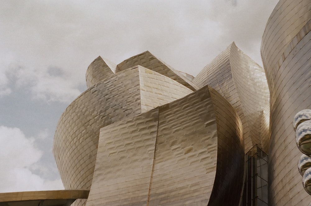 Guggenheim Museum Bilbao under white sky
