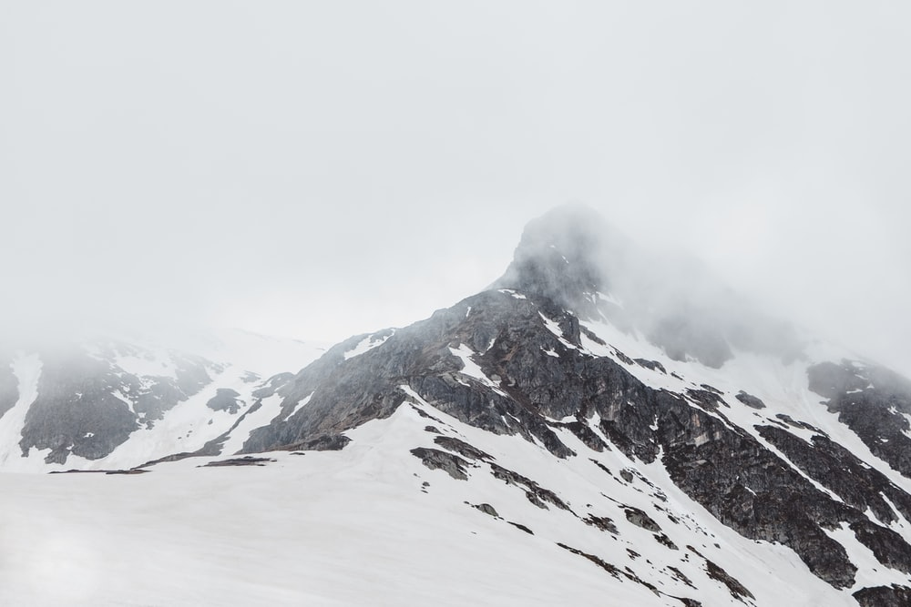 snow covered mountain top