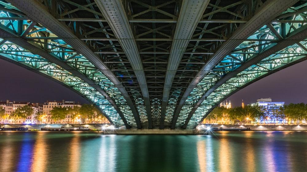 under view of bridge