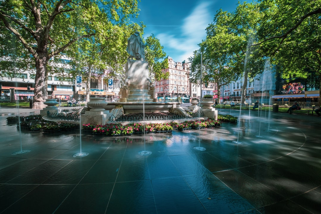 Leicester Square fountain..