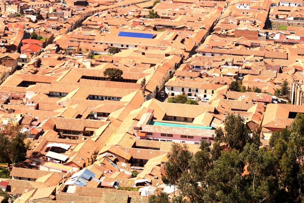 aerial photography of village