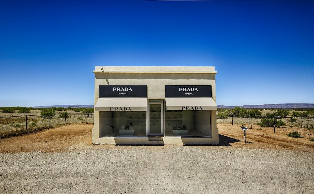 white and black Prada store
