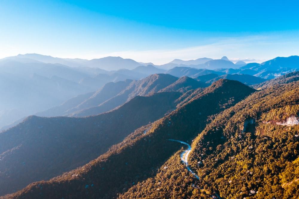 bird's-eye photography of mountain