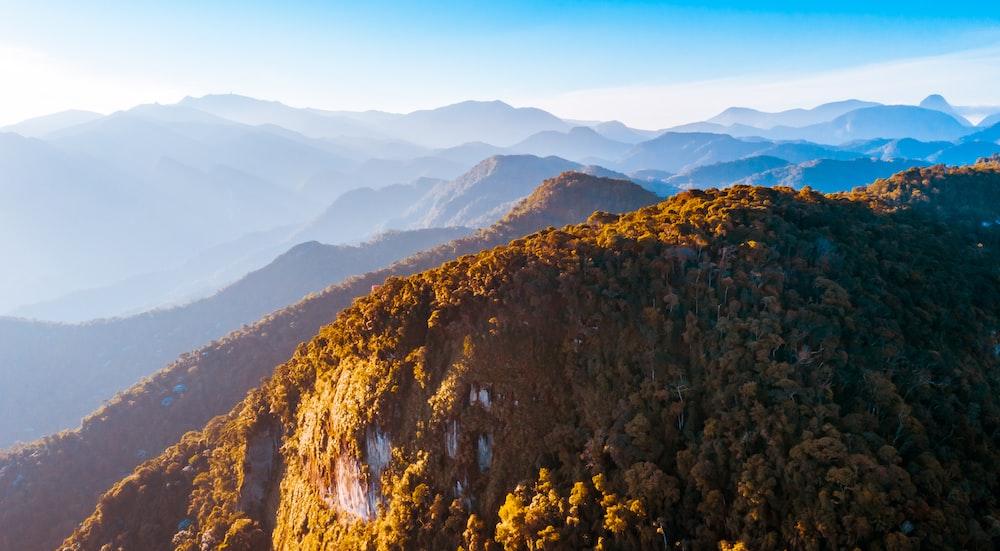 photography of green mountain range during daytime