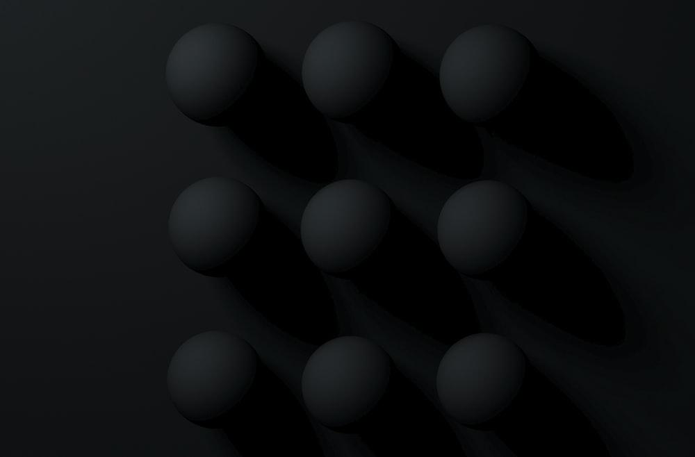 black on black circles