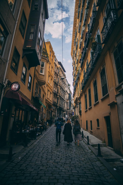 urban photo of a sidewalk