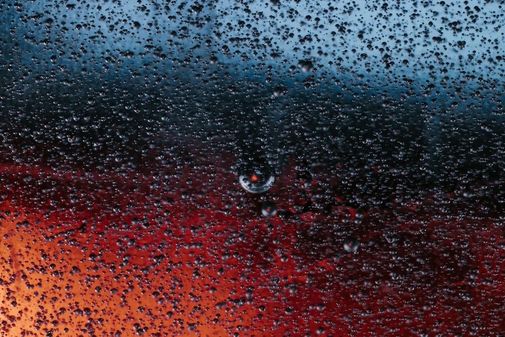 raindrops on a glass window