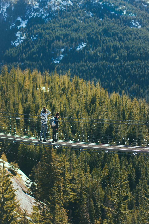 two women on bridge