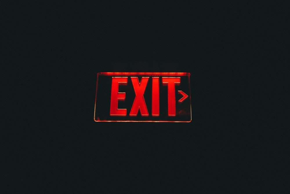 red Exit signage