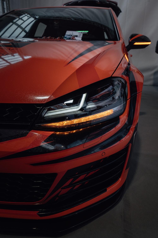 red Volkswagen vehicle