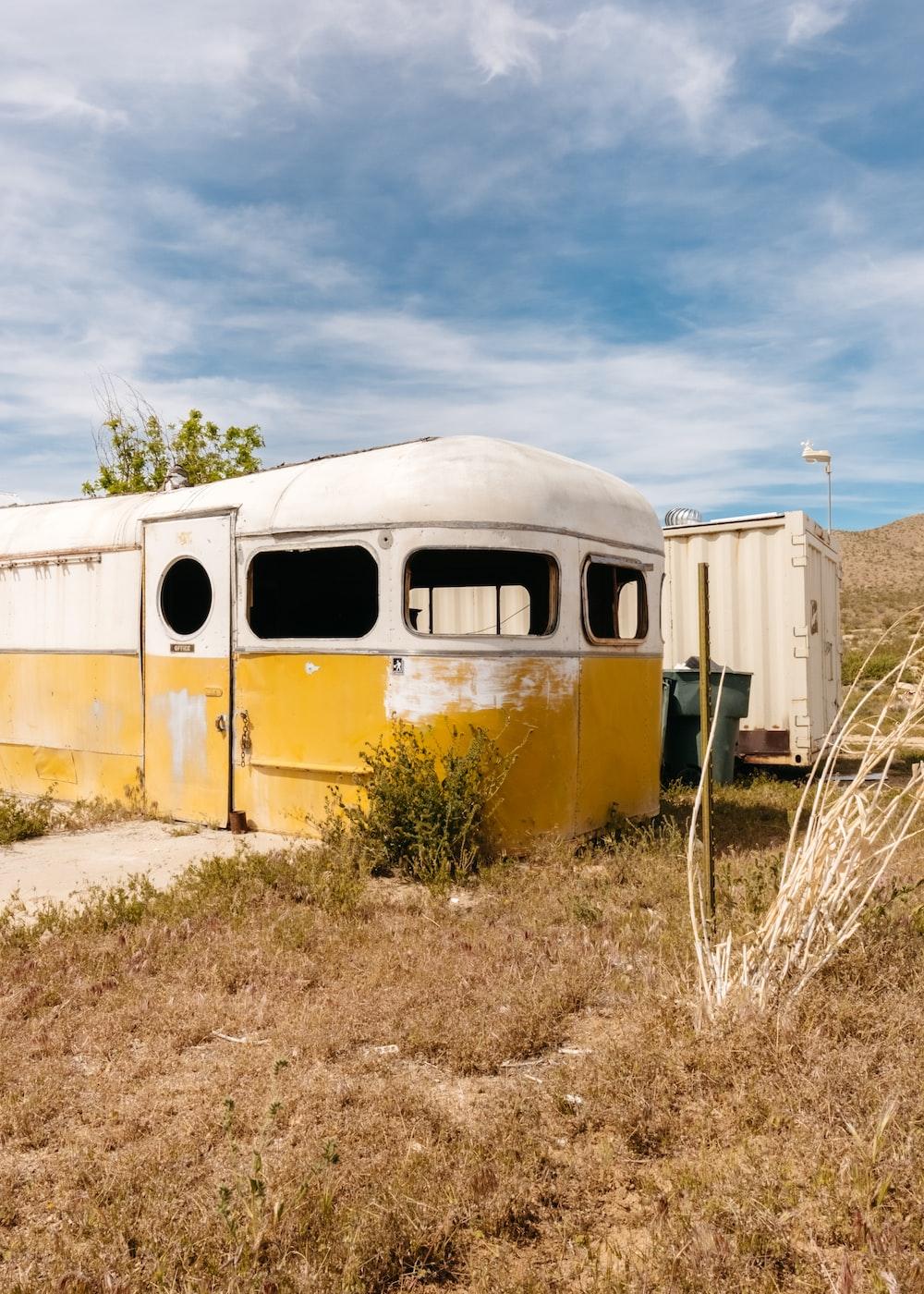 white vehicle house