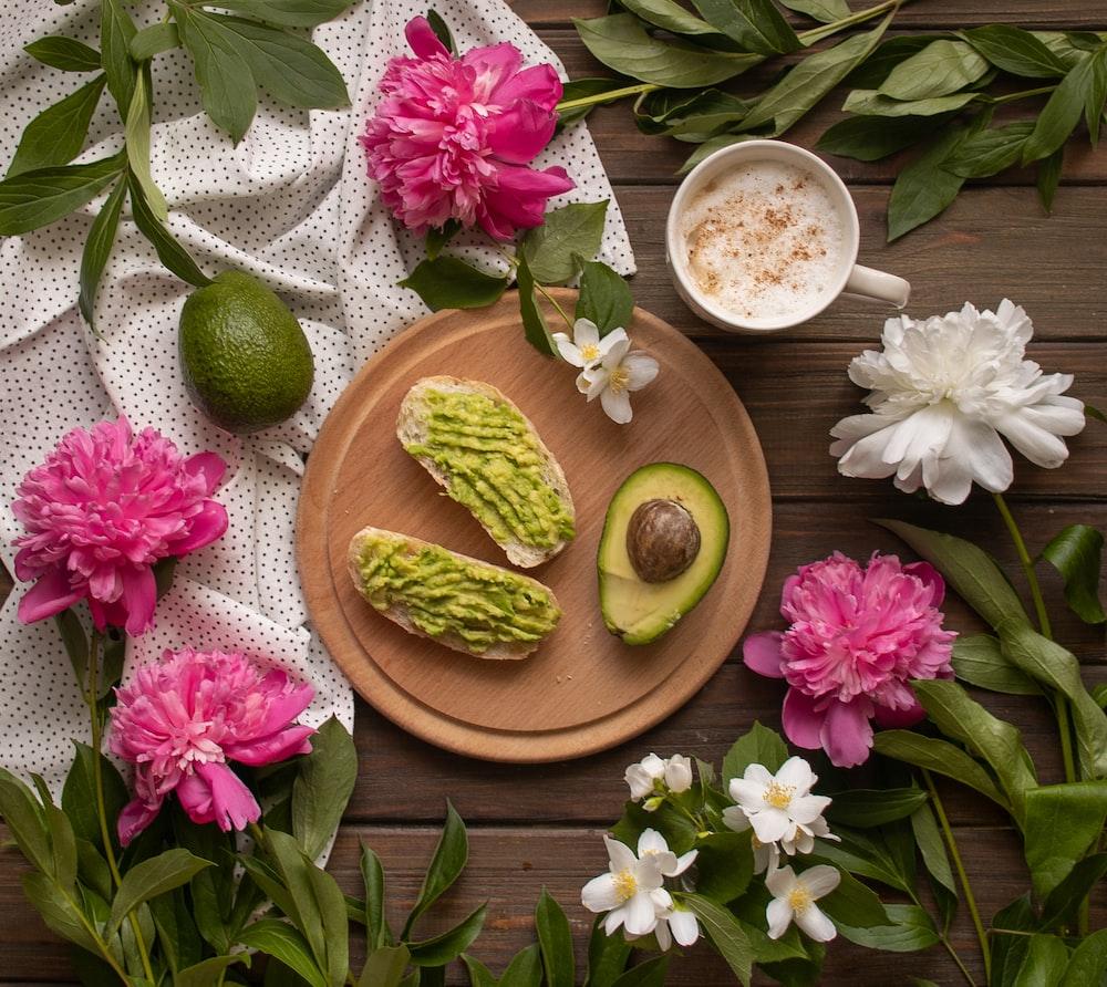 avocado fruits on plate