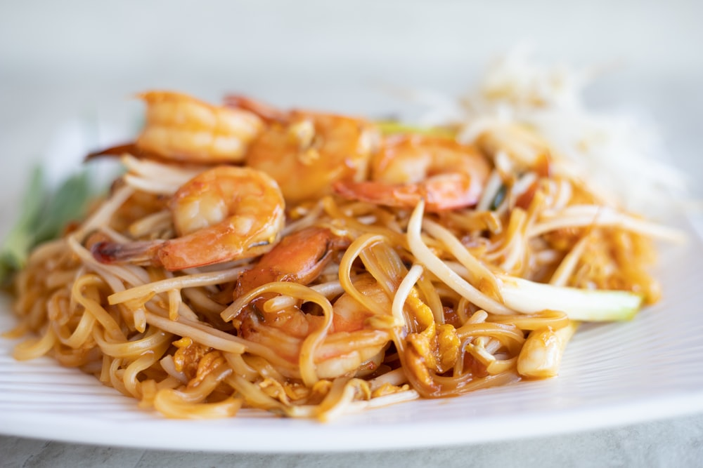 cooked shrimp food