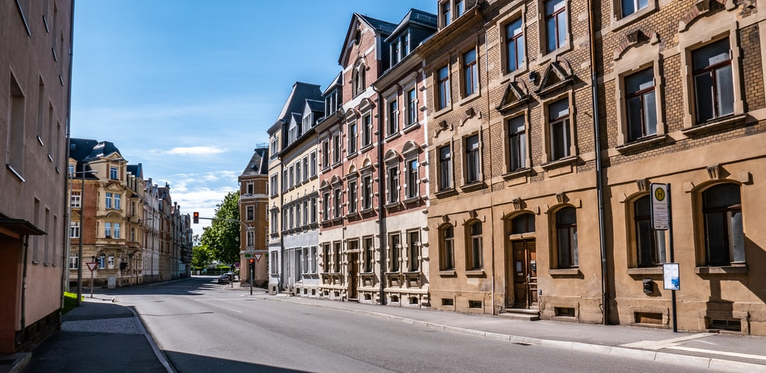This is one part of Freiberg near the train station. Since Freiberg is a small city, roads are very empty on the weekend. Some people working in Freiberg prefer to live in bigger cities like Dresden or Chemnitz.