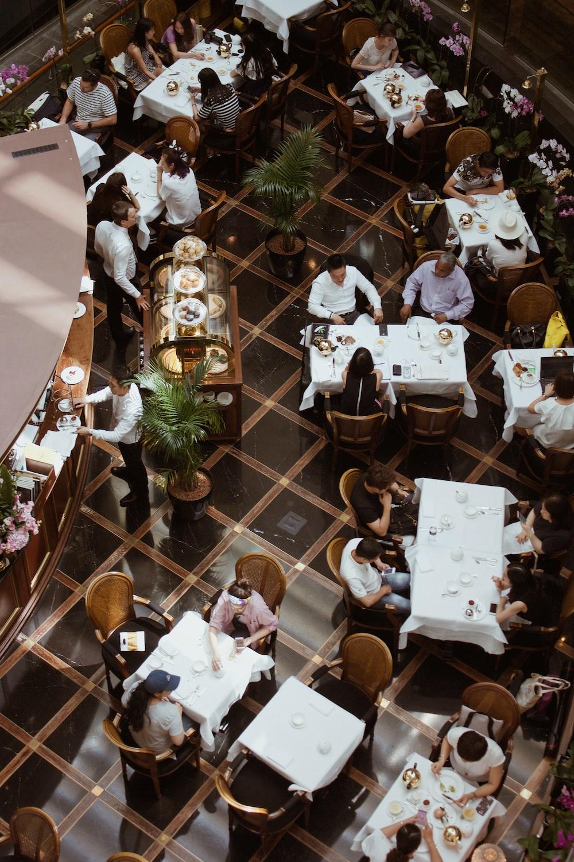 people in restaurant