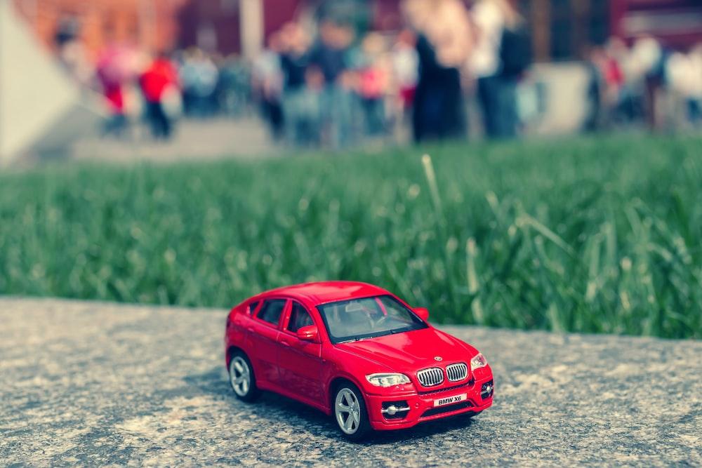 red sedan miniature