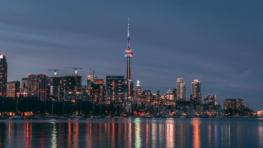 cityscape at night stime