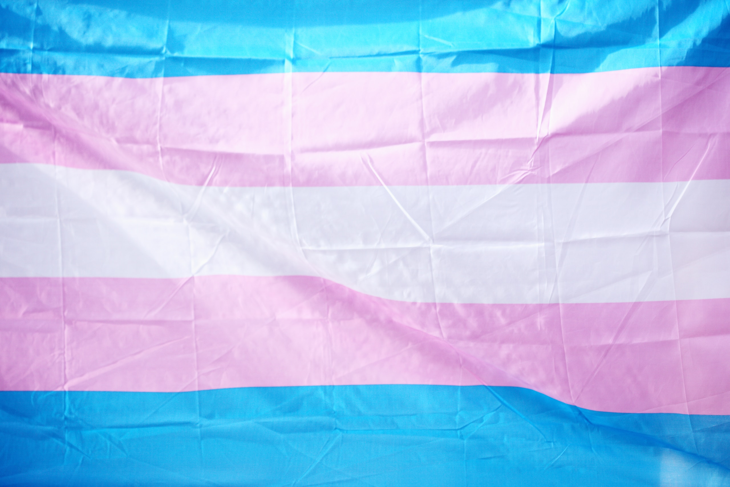 blue and pink flag