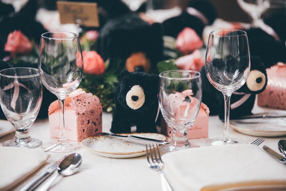 selective focus photo of table centerpiece