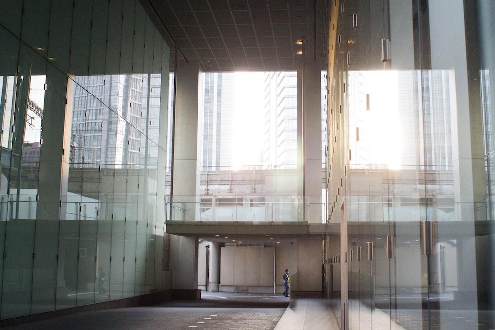light through glass building
