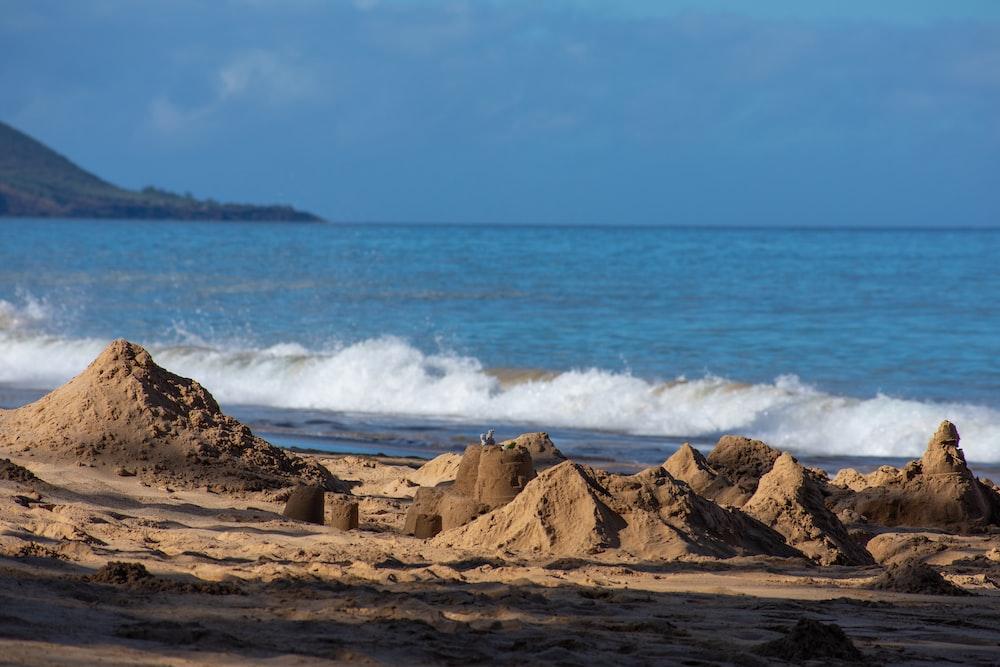 sand castle on shore