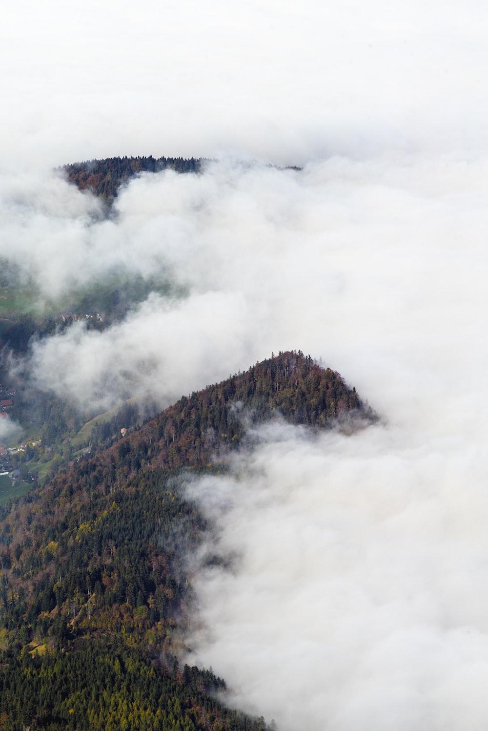mountain foggy scenery