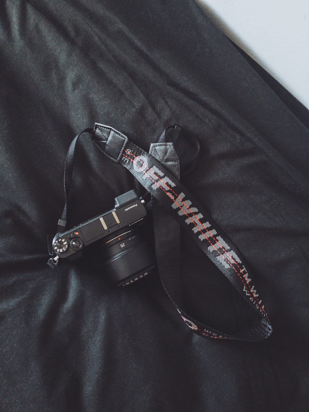 black Off-White DLSR camera sling