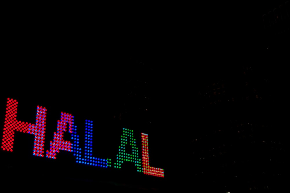 Halal neon light signage