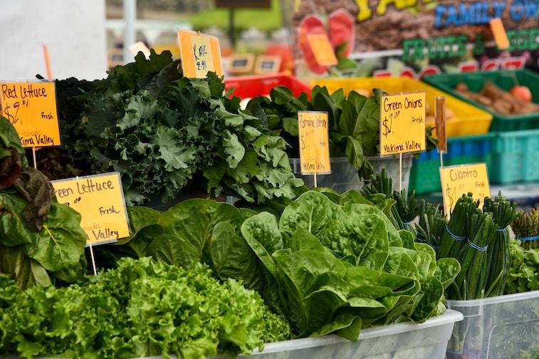 green vegetable display