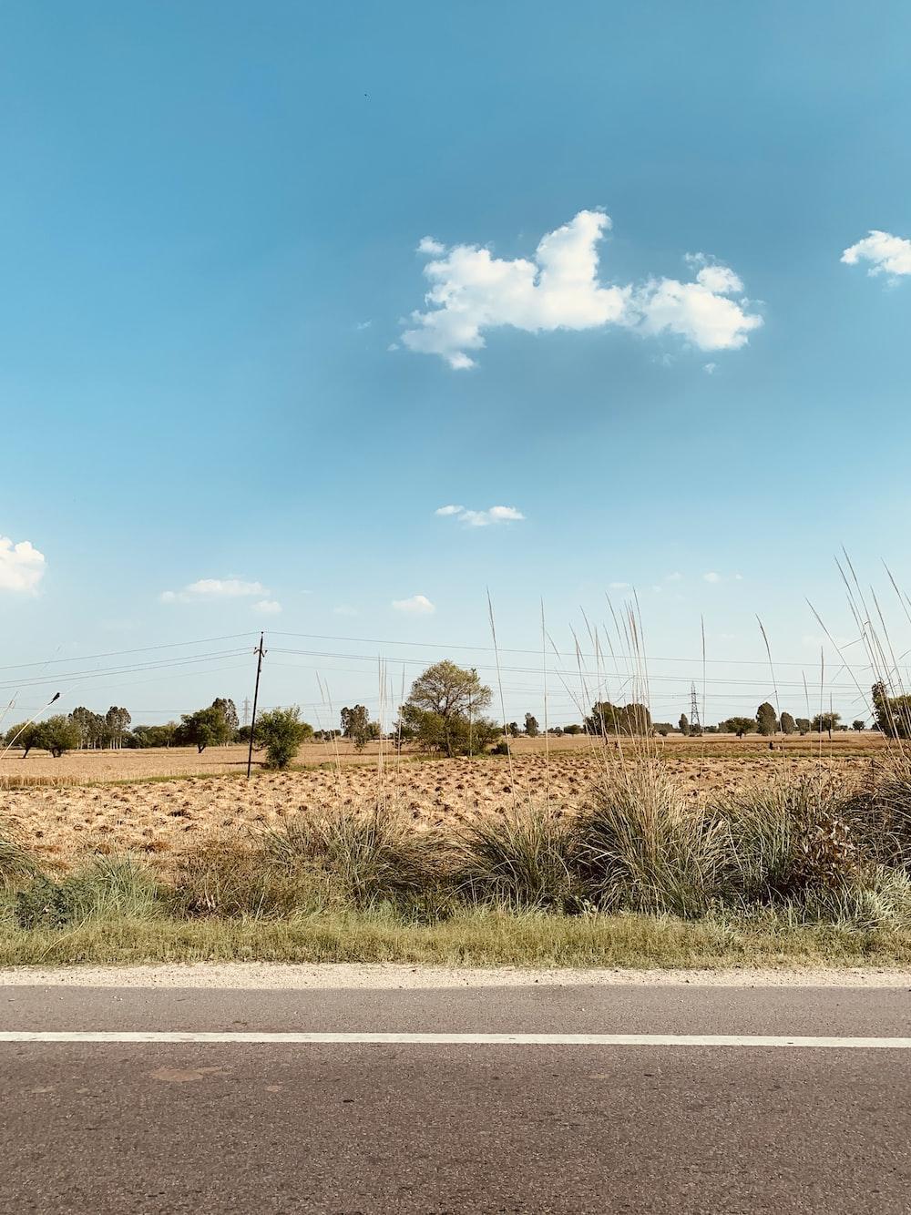 empty countryside across highway