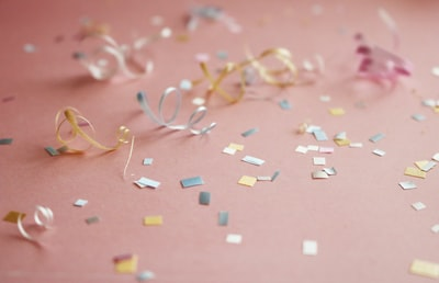 assorted-color confetti events zoom background