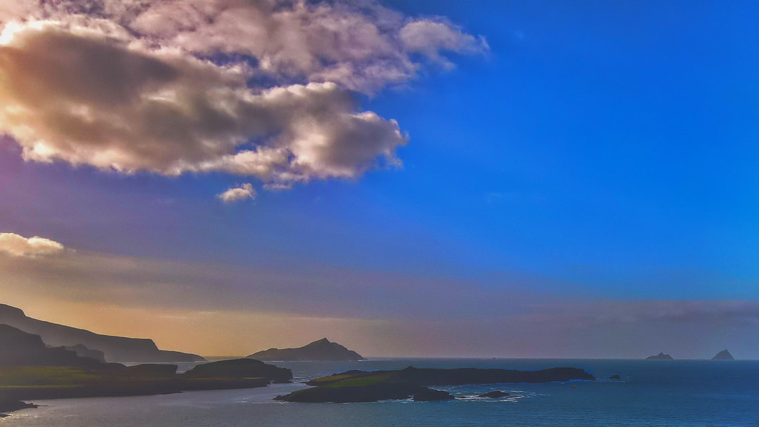 A view of the Skellig Islands (on the right).