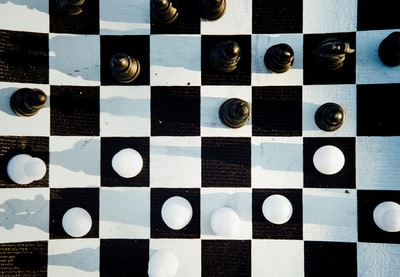 black and white chessboard