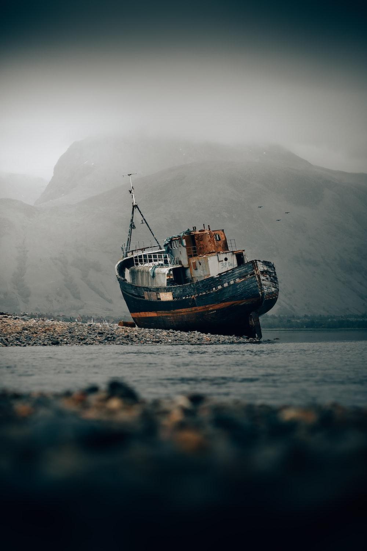 black wreck ship