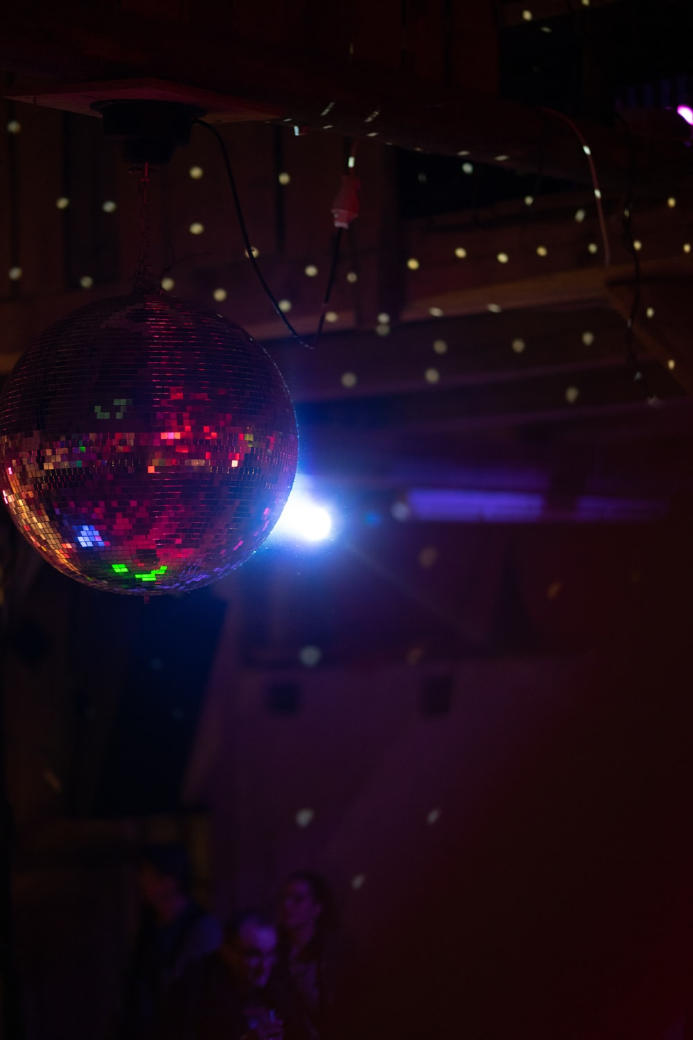disco ball in room