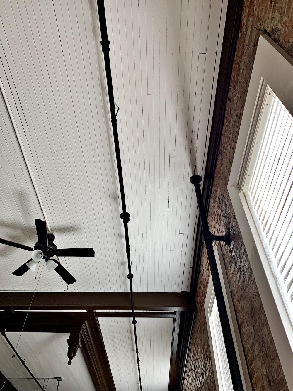 turned-off ceiling fan