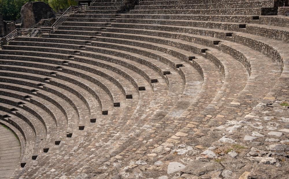 concrete stadium stairs