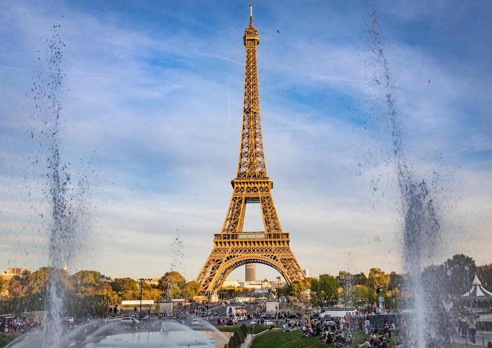 brown Eiffel Tower, Paris France