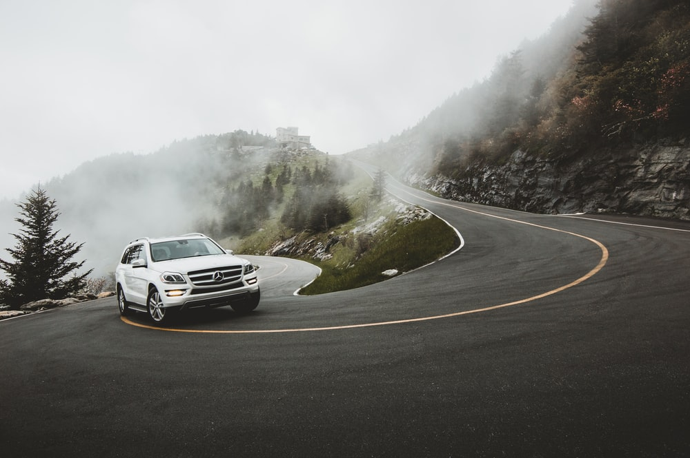 silver Mercedes-Benz SUV