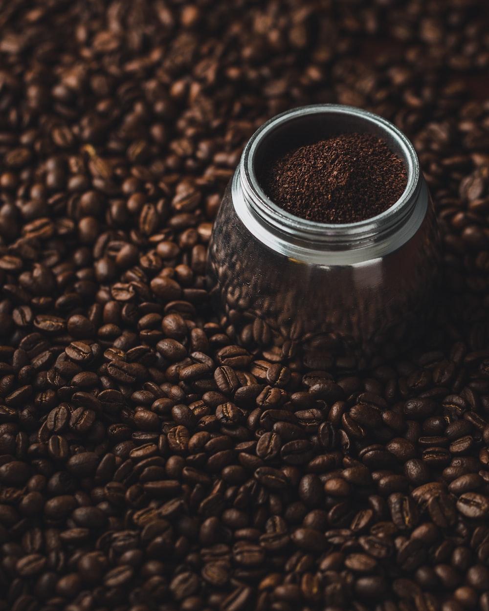 gray coffee jar