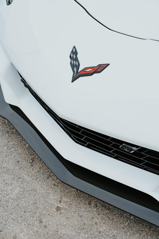 white Corvette car