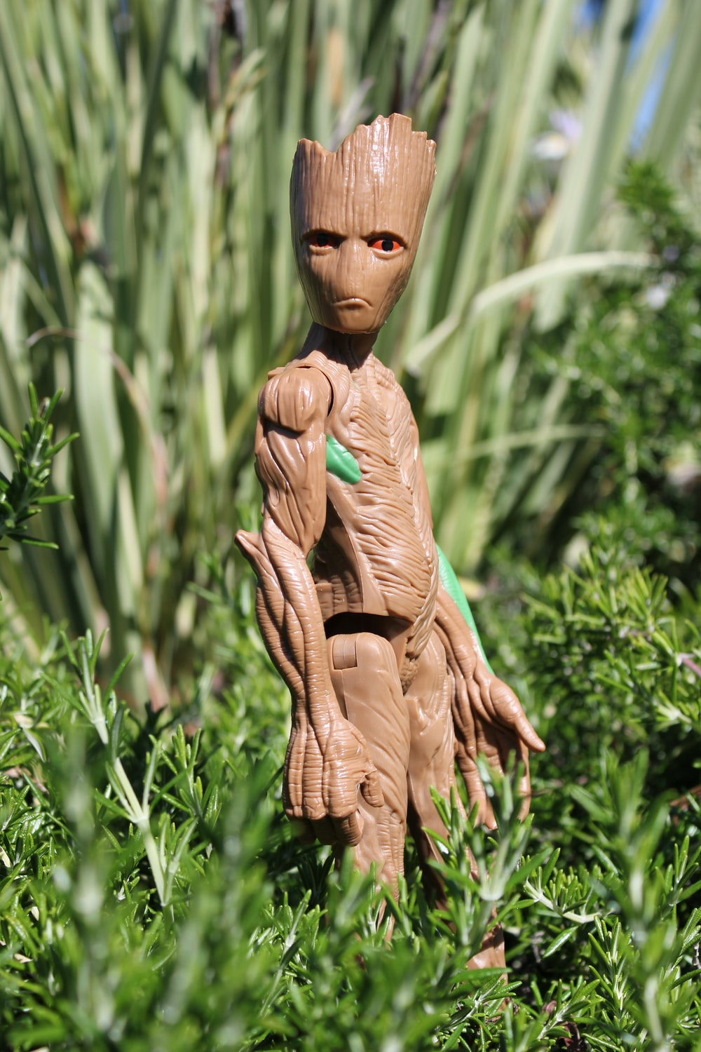 brown Groot action figure