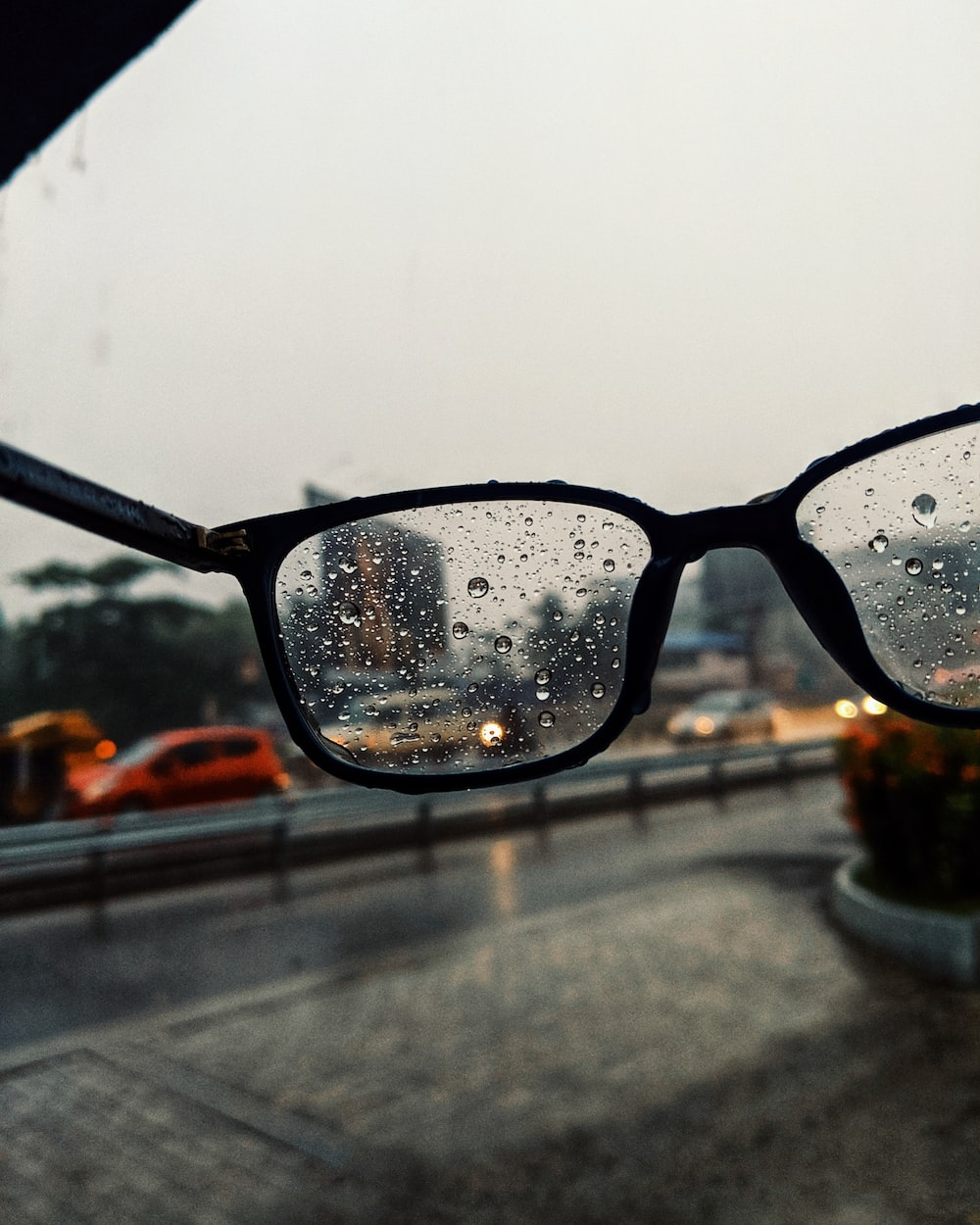 selective focus photography of eyeglasses