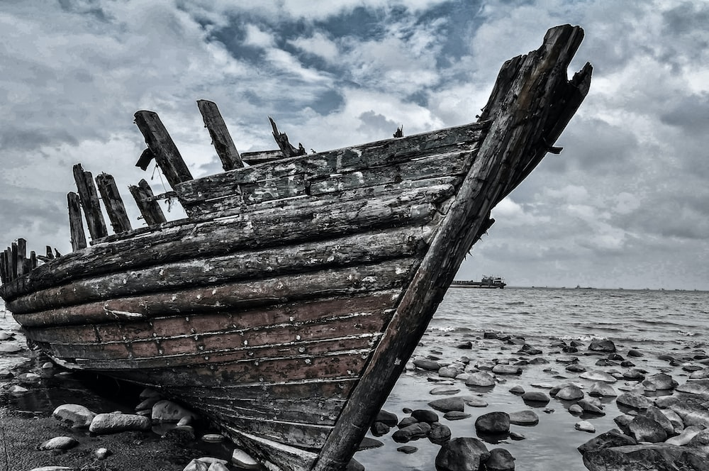 shipwreck on shore